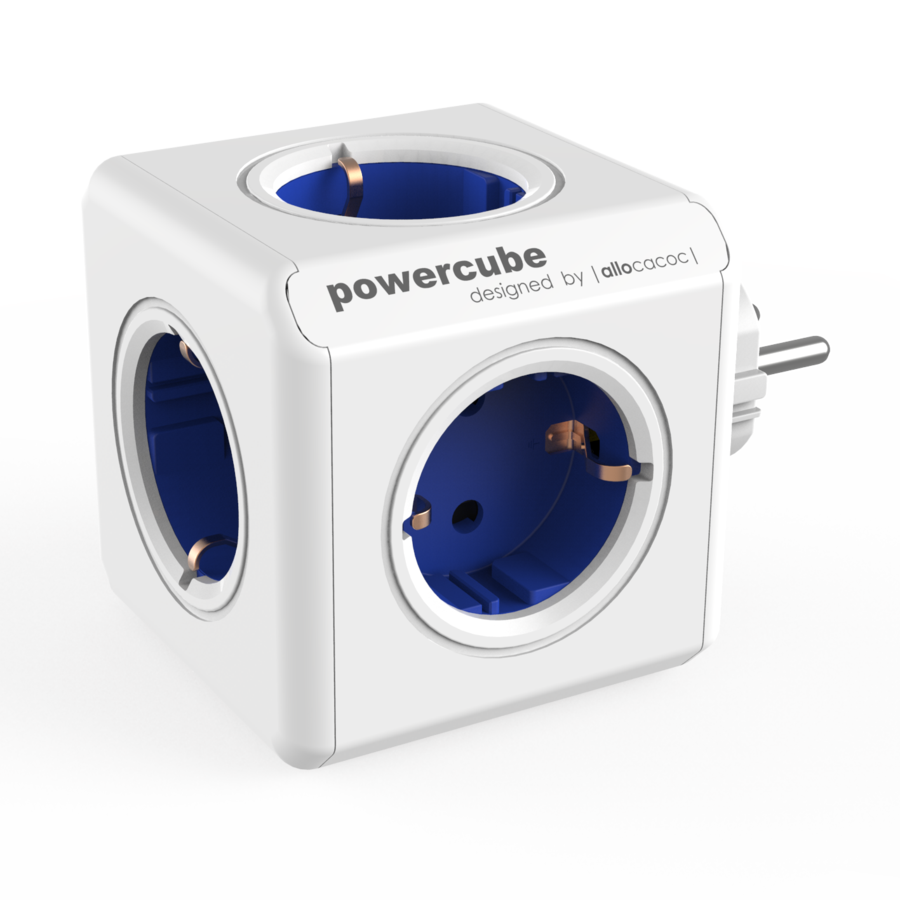 Allocacoc PowerCube Original Blue | Πολύπριζο 5 Θέσεων