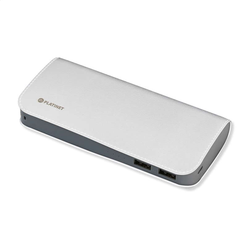 Platinet PMPB15LW Power Bank 15000mAh 2xUSB @ 3.1A: Φορητή Μπαταρία για Smartphones & Tablets + Luxury Leather Design