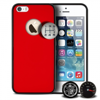 "QDOS Custom Buttons ''Love Cars"" Red για iPhone 5 / 5S / SE (Στύλ και Προστασία!)"