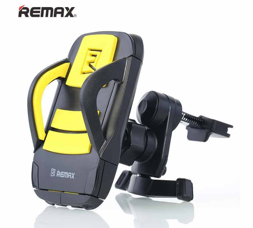Remax RM-C03 Black-Yellow Universal Airvent Car Holder για Κινητά, Smartphones, MP3/MP4 Player, PDA, PNA, iPhone, iPod