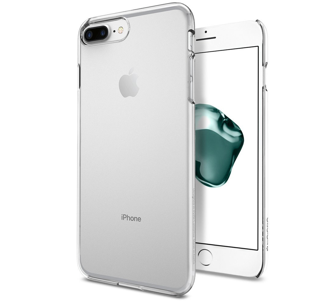 "Spigen (SGP-043CS20935) Thin Fit Case για iPhone 7 Plus (5.5"") Crystal Clear (με πάχος μόλις 0.8mm)"