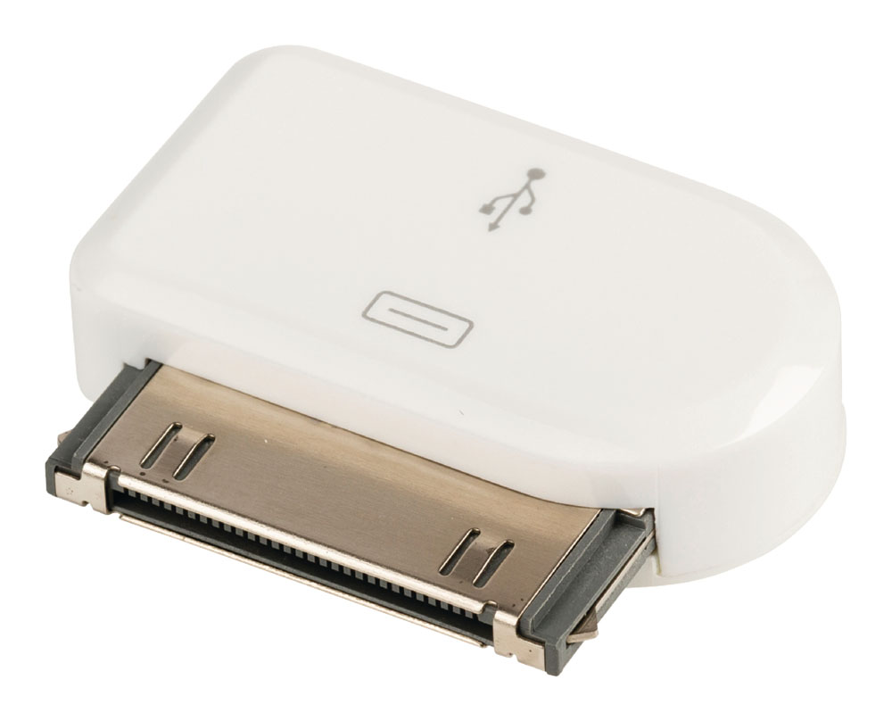 Valueline VLMP39900W microUSB to Apple 30-pin Dock Adapter για Apple iPhone 2G, 3G, 3GS, 4, 4S, iPod & iPad