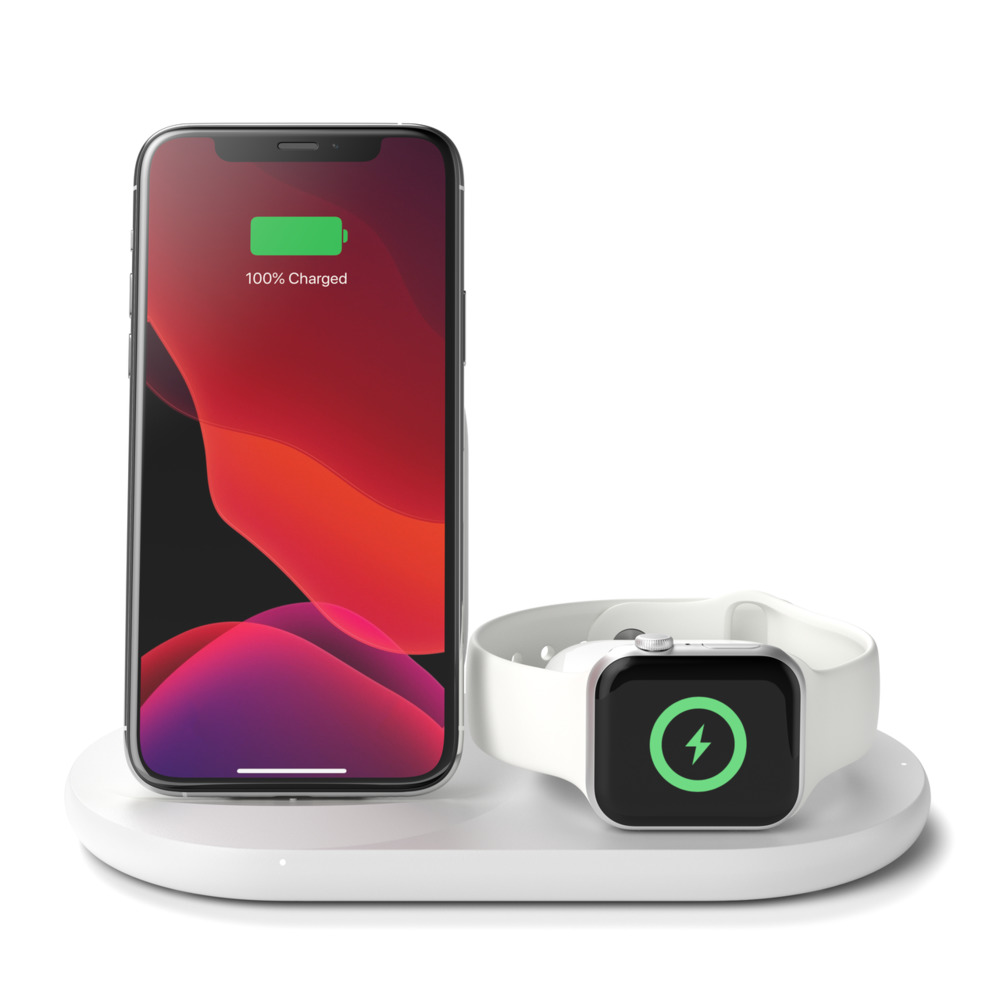 Belkin BOOST↑UP 3-in-1 Wireless Charger White για Apple Συσκευές (WIZ001vfWH)