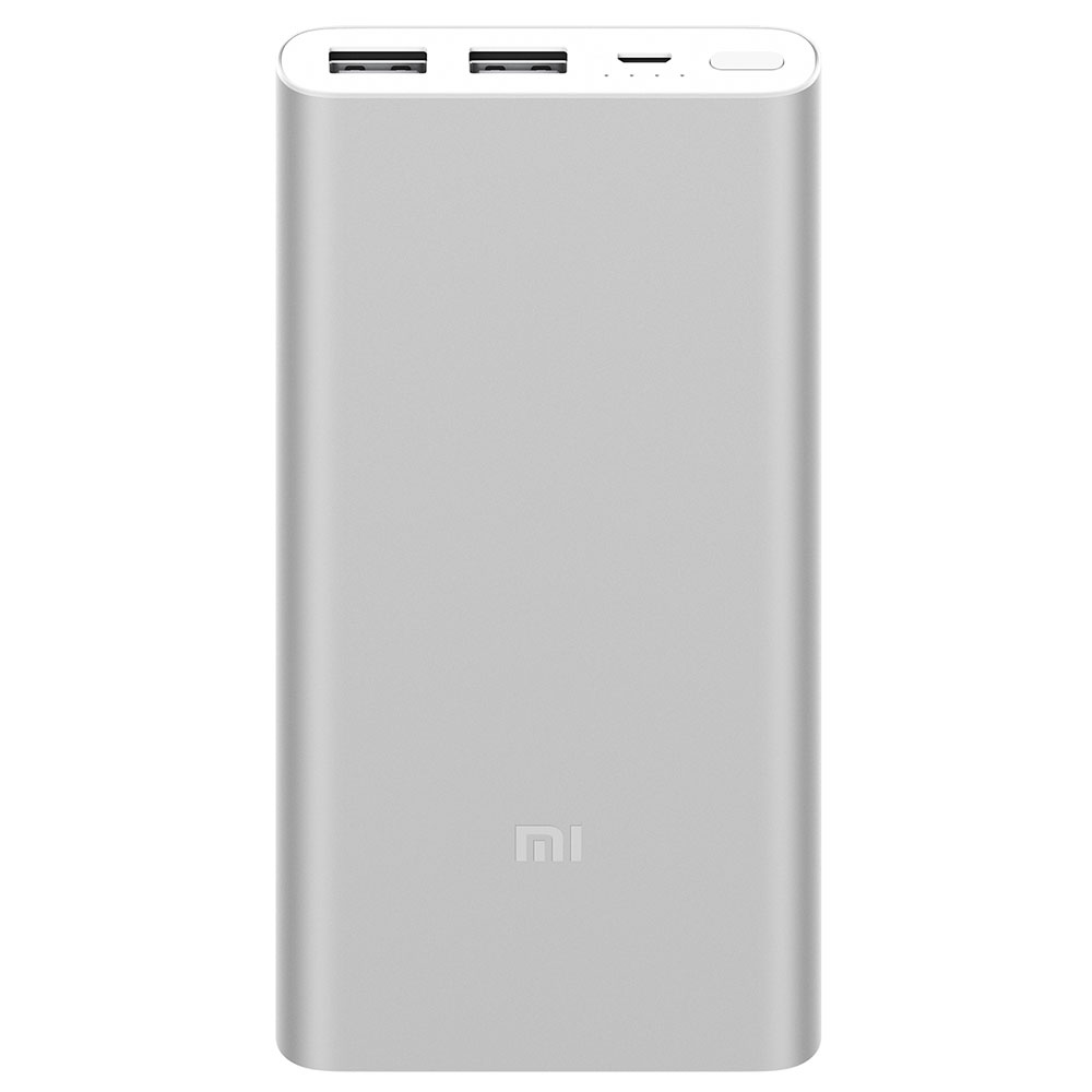 Xiaomi PLM09ZM Mi Power Bank 2S 10000mAh Silver με τεχν. Qualcomm Quick Charge 3.0: Φορητή Μπαταρία για Smartphones/Tablets