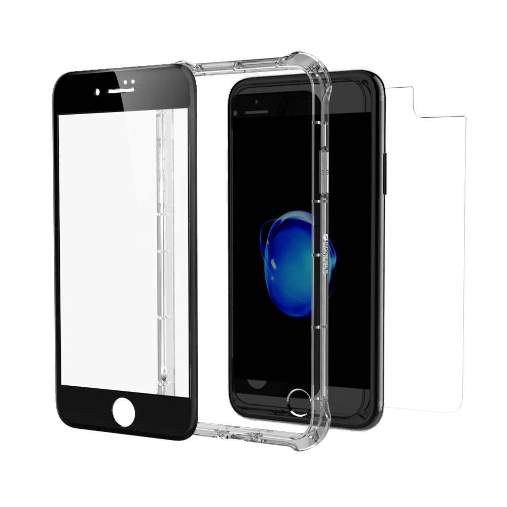 "ZAGG invisibleSHIELD Glass+ Contour 360 (Contour Black Glass Front + Bumper Case) για Apple iPhone 7 & 8 Plus (5.5"")"