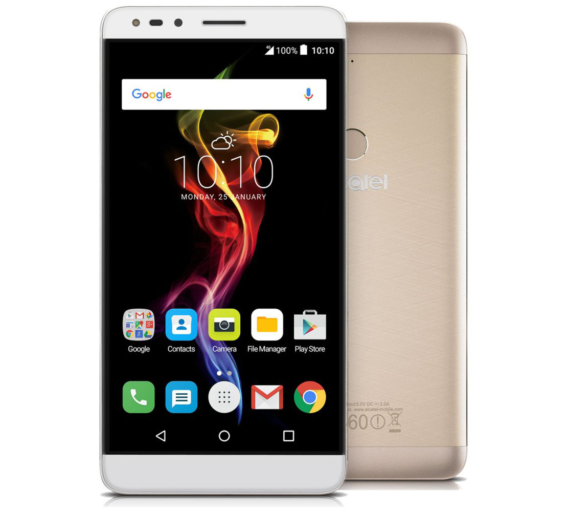 Alcatel 7070x Pop 4 6 Metal Gold 4G (LTE), Full HD IPS 6.0'' 16GB Android Smartphone (Single Sim)