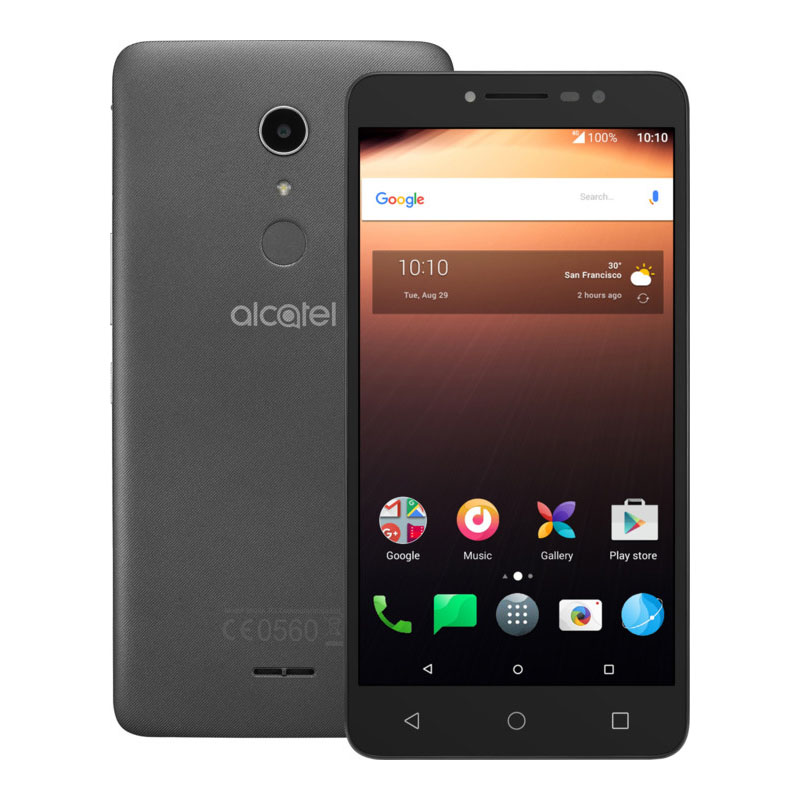 Alcatel 9008D A3 XL 4G Android Smartphone, 16GB ROM & 2GB RAM Dual Sim Sideral Gray / Silver