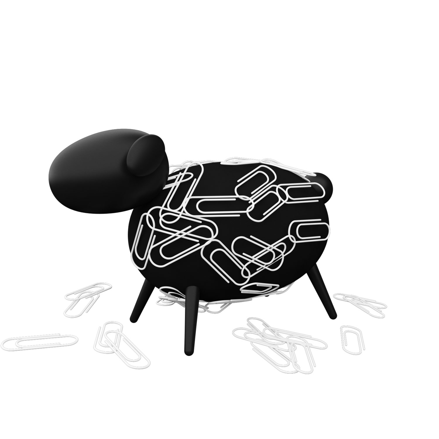 Allocacoc Sheepi by DesignNest | Fun Magnetic Paperclip Holder