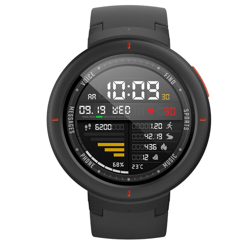 Amazfit (A1811) Verge Black By Huami Smartwatch (Global Version)