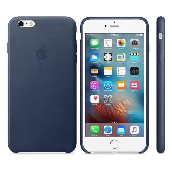 "Apple MKXD2ZM Original Leather Case για iPhone 6 Plus / 6S Plus (5.5"") Midnight Blue"