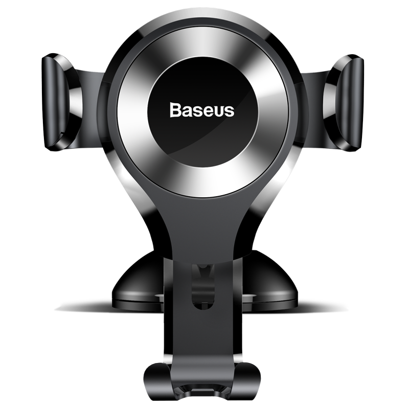 Baseus Osculum Type Gravity Car Mount Black/Silver | One-Hand Operation | Multi-Angle | Charging Hole