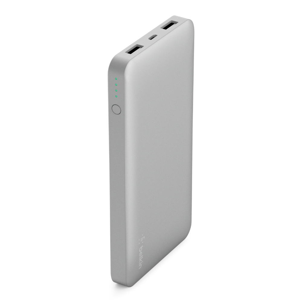 Belkin F7U039btSLV Pocket Power 10K Silver 10000mAh με διπλή έξοδο USB @ 2.4A: Φορητή Μπαταρία για Smartphones & Tablets