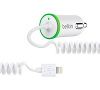 Belkin Car Charger 2.1Α with Lightning Connector F8J074btWHT (MFI Certified)