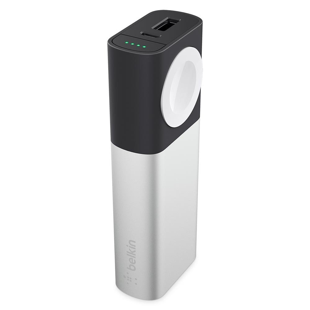 Belkin F8J201btSLV Valet Charger Power Pack 6700mAh (USB @ 2.4A + Apple Watch Magnetic Charge)
