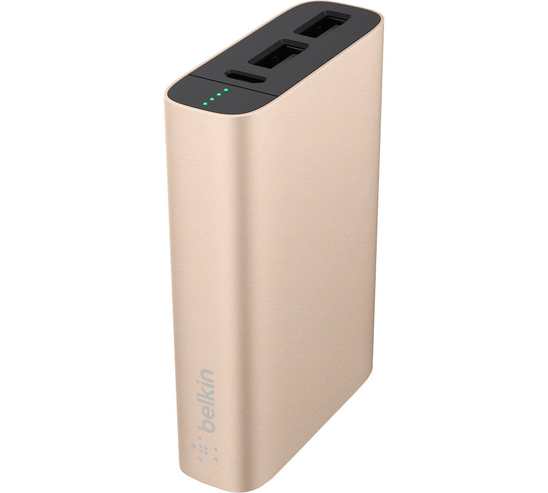 Belkin F8M989btGLD MixIt Up Metallic Power Pack 6600mAh 2x USB @ 3.4A: Φορητή Μπαταρία για Smartphones & Tablets