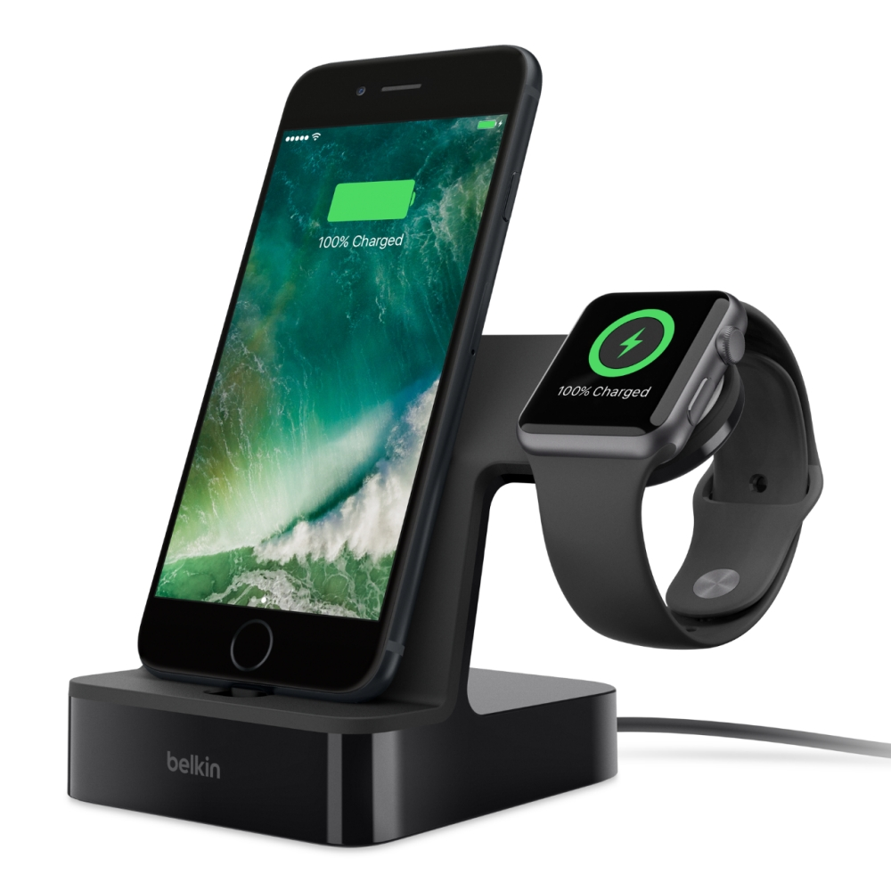 Belkin F8J200vfBLK PowerHouse Charge (φόρτιση και συγχρονισμός) για Apple iPhone & Apple Watch (Black)