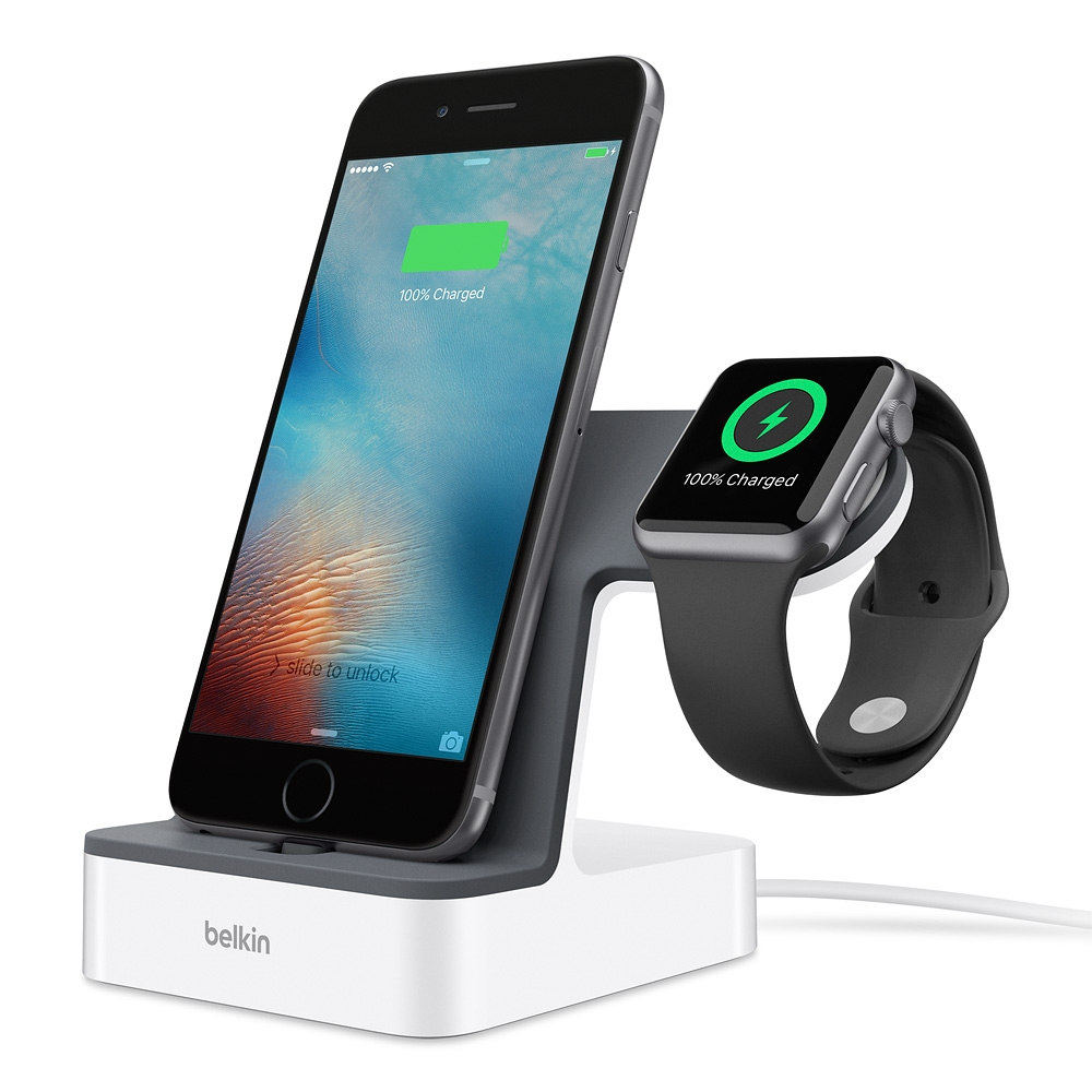 Belkin F8J200vfWHT PowerHouse Charge (φόρτιση και συγχρονισμός) για Apple iPhone & Apple Watch (White)