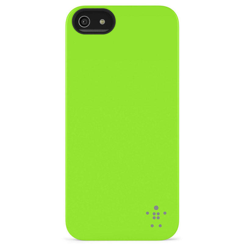 Belkin Shield Matte Hard Cover Case για iPhone 5 / 5S / SE (F8W127vfC07) Green