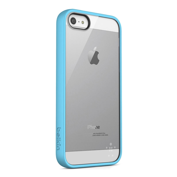 Belkin View (TPU) Cover Case για iPhone 5 / 5S / SE (F8W153vfC04) Blue-Clear