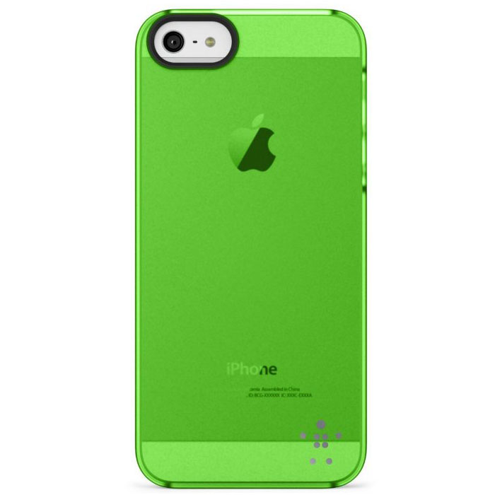Belkin Shield Sheer Matte Hard Cover Case για iPhone 5 / 5S / SE (F8W162vfC02) Green