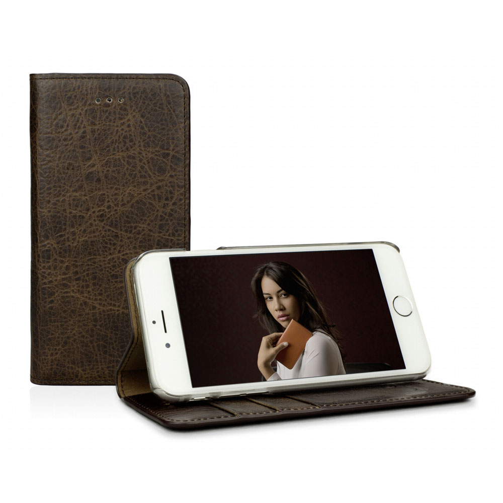"Caseual Real Leather Wallet & Stand Case για iPhone 6 / 6S (4.7"") Vintage Mamut"