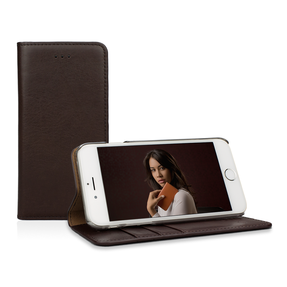 "Caseual Real Leather Wallet & Stand Case για iPhone 6 / 6S (4.7"") Italian Mocca"