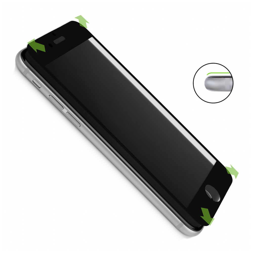 "Caseual Full Face Screen Glass Protector Black για Apple iPhone 6 Plus / 6S Plus (5.5"")"