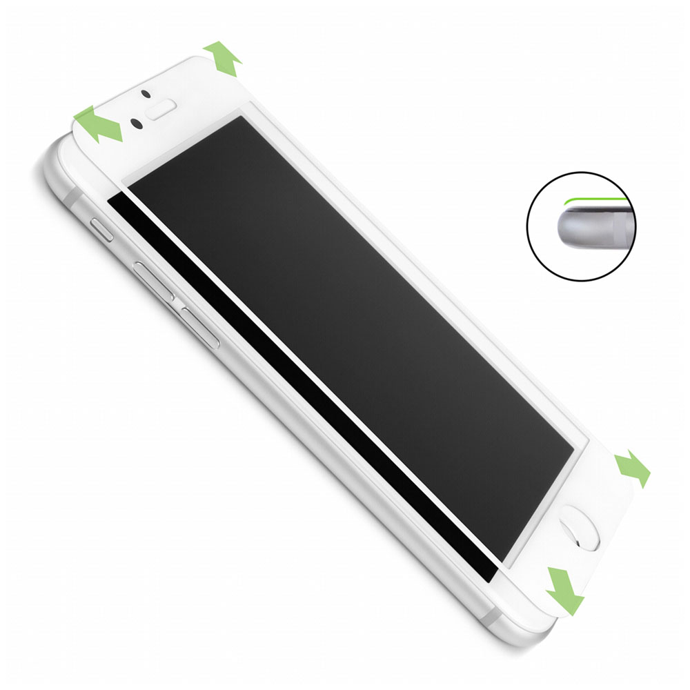 "Caseual Full Face Screen Glass Protector White για Apple iPhone 6 / 6S (4.7"")"
