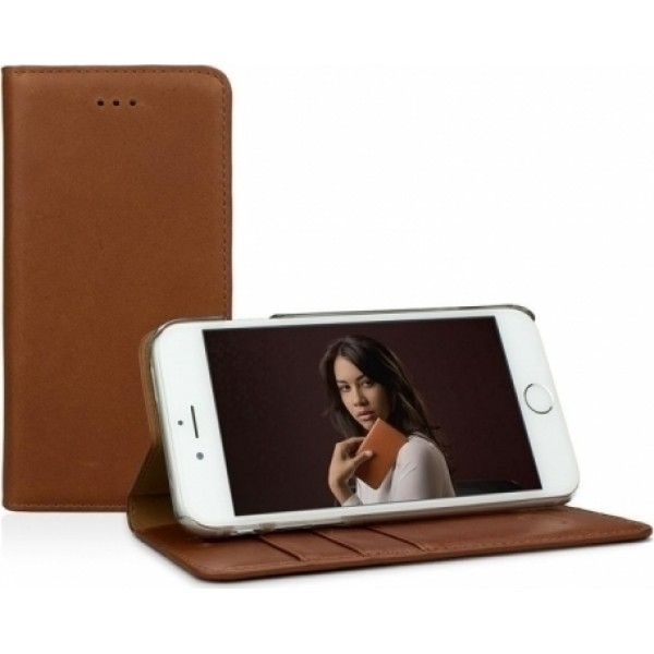 "Caseual Real Leather Wallet & Stand Case για iPhone 7 & 8 (4.7"") Italian Brown"