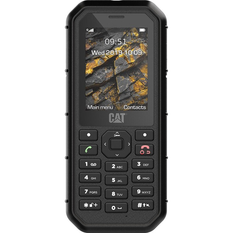 Cat (Caterpillar) B26 Dual Sim (2 κάρτες), Dust (Ανθεκτικό) & Water Resistant (Αδιάβροχο) Mobile Phone Black