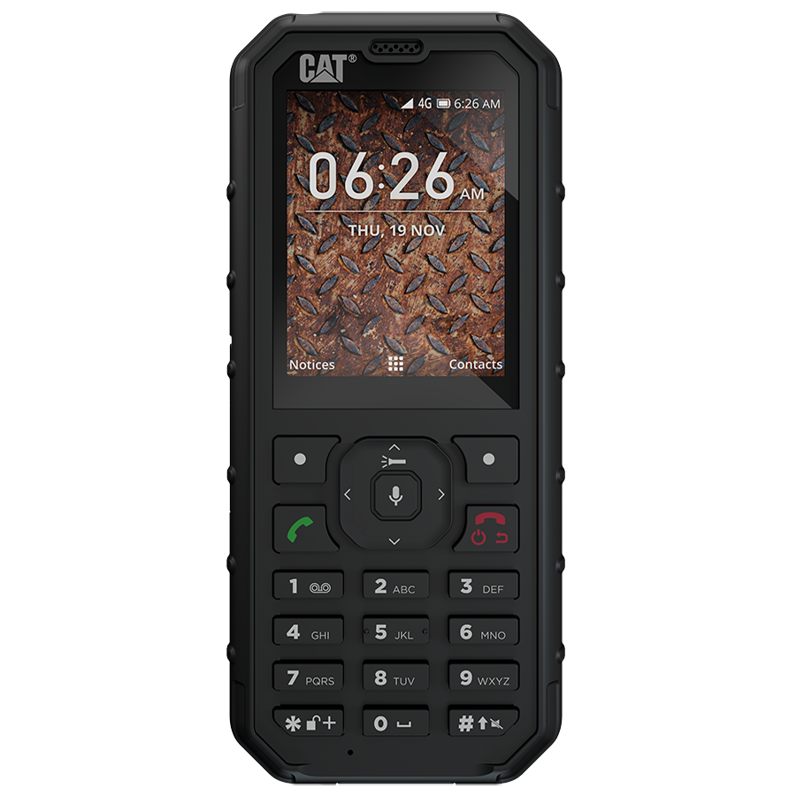 Cat (Caterpillar) B35 Dual Sim (2 κάρτες), Dust (Ανθεκτικό) & Water Resistant (Αδιάβροχο) Feature Phone Black