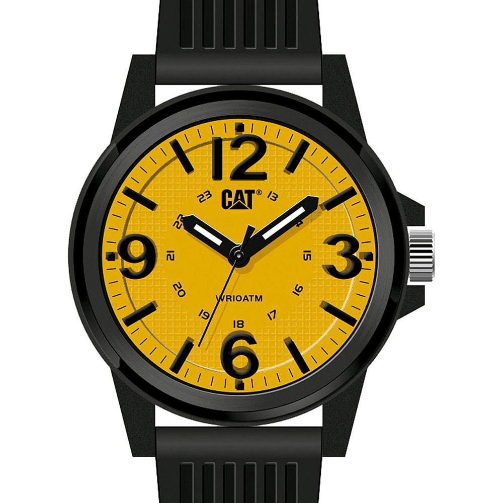 Caterpillar Groovy Mens Watch με Black Silicone Strap