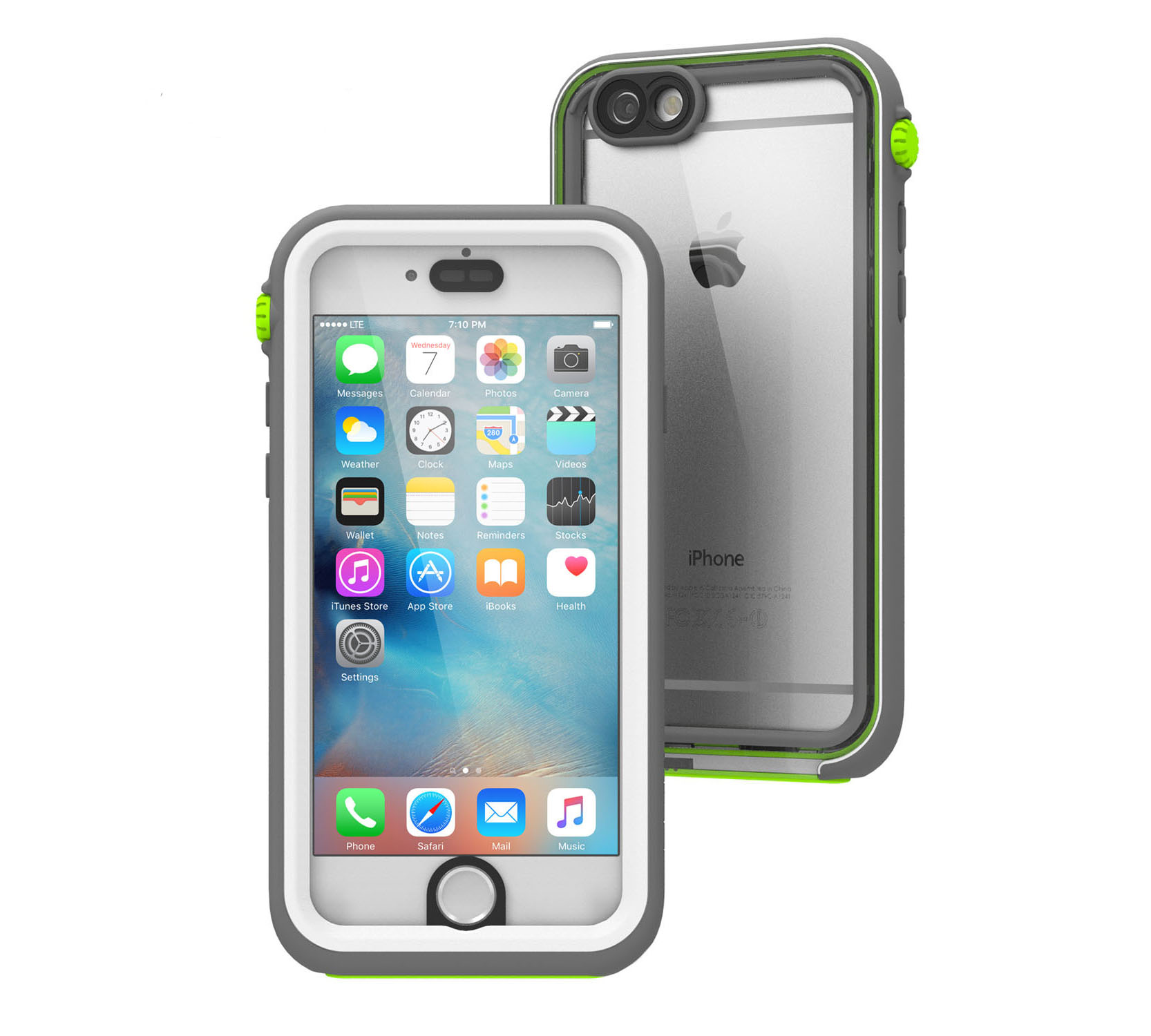 "Catalyst Case With TouchID WaterProof (5m), DirtProof (6x), SnowProof, ShockProof (2m) Green Pop για iPhone 6 / 6S (4.7"")"