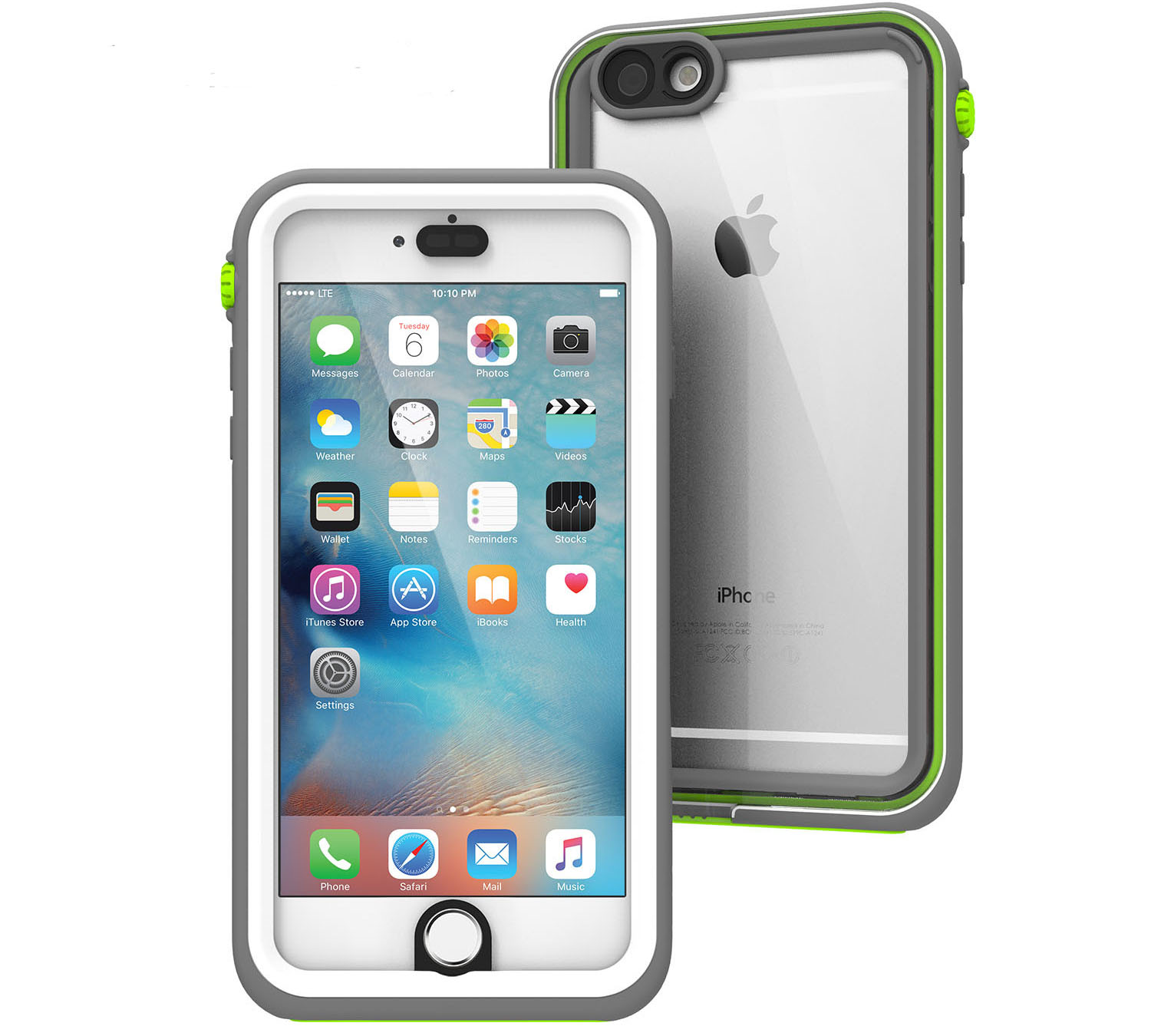 "Catalyst Case With TouchID WaterProof (10m), DirtProof (6x), SnowProof, ShockProof (2m) Green Pop για iPhone 6 / 6S Plus (5.5"")"