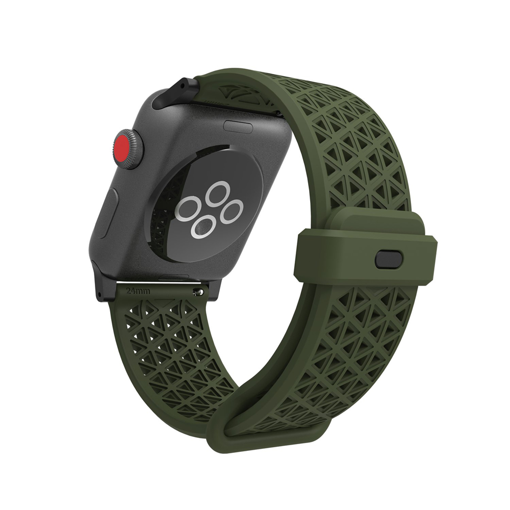 Catalyst Sport Band (λουράκι σιλικόνης) Army Green για Apple Watch Series 2 & Series 3 (42mm)