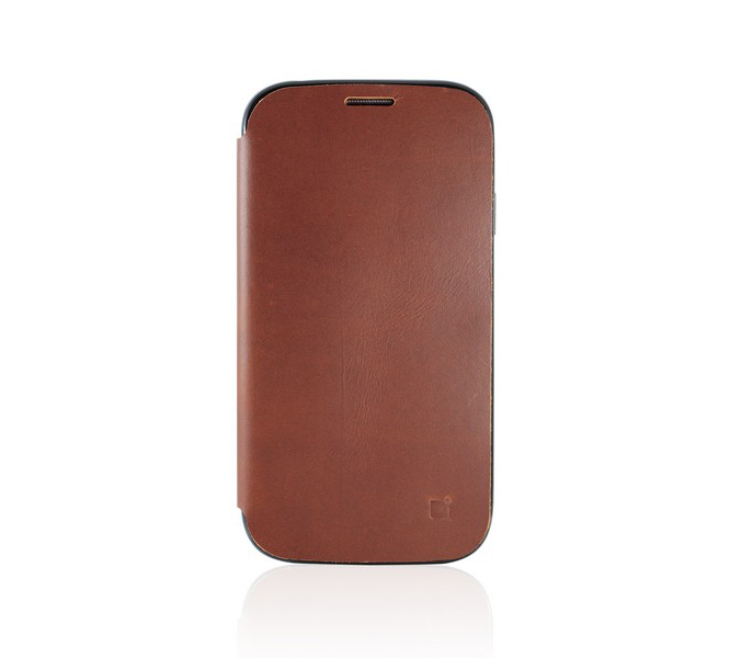 CDN (Cordovan) Genuine Leather Stand Case για Samsung GT-i9505/i9500 Galaxy S4 Brown + Δώρο Screen Protector