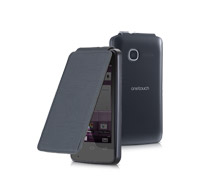 Alcatel FC4010 Original Flip Cover Case για Alcatel One Touch Τ'Pop OT-4010D Black