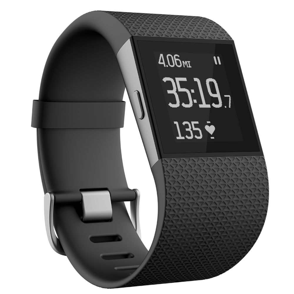 Fitbit Surge Sportwatch Small Black (Συμβατό με Android, iOS & Windows συσκευές) (με ενσωματωμένο GPS tracking)