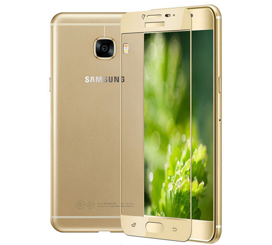 Forever Premium 3D Tempered Full Glass Protector για Samsung SM-A710F Galaxy A7 (2016) Gold