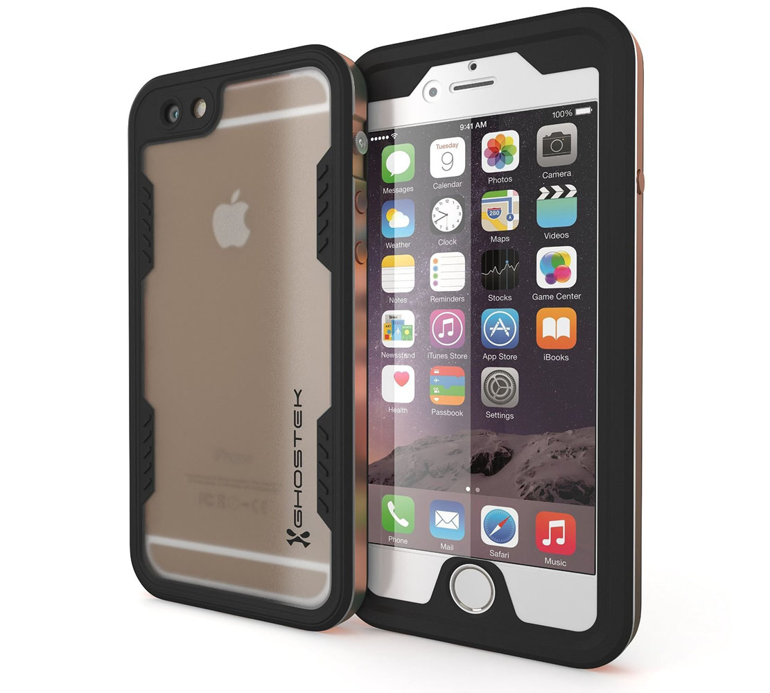 "Ghostek Atomic 2.0 WaterProof, DirtProof, SnowProof, ShockProof Case Gold για Apple iPhone 6 / 6S Plus (5.5"") (Αδιάβροχη θήκη!)"
