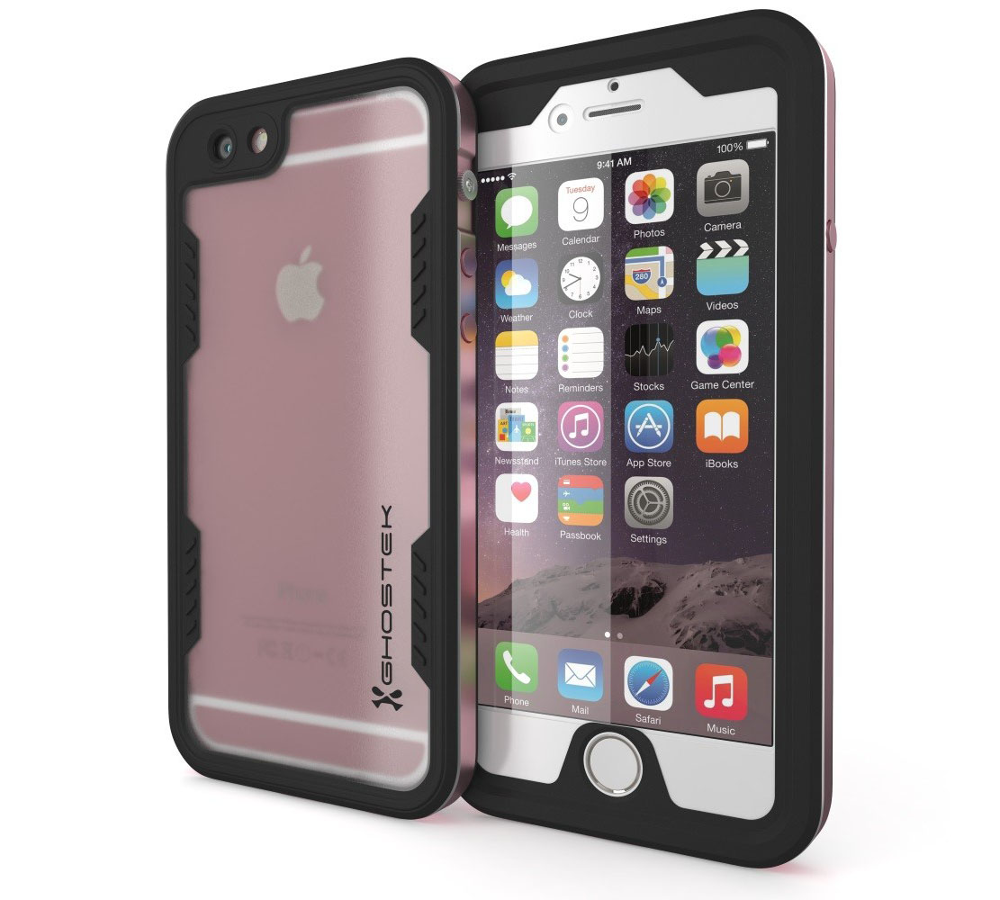 "Ghostek Atomic 2.0 WaterProof, DirtProof, SnowProof, ShockProof Case Pink για Apple iPhone 6 / 6S Plus (5.5"") (Αδιάβροχη θήκη!)"