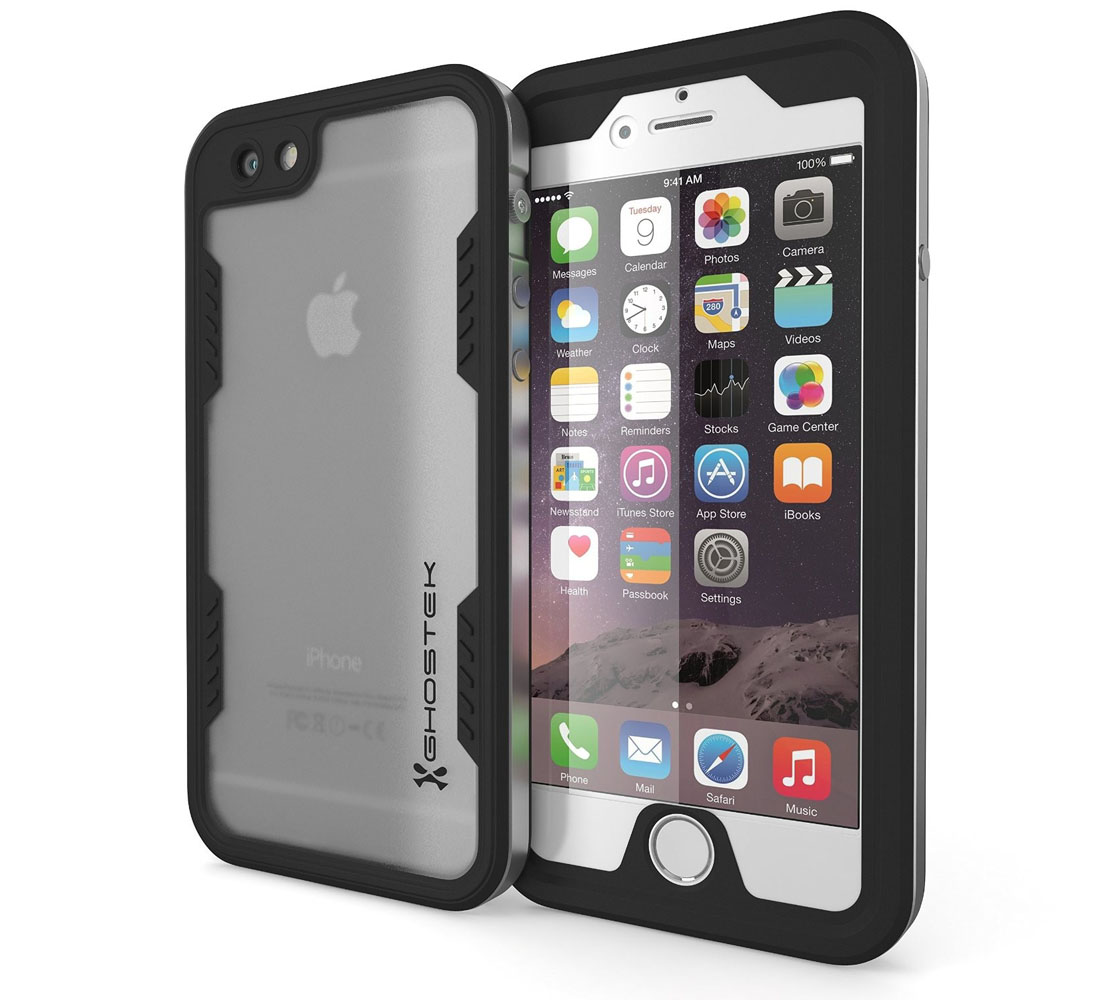 "Ghostek Atomic 2.0 WaterProof, DirtProof, SnowProof, ShockProof Case SLV για Apple iPhone 6 / 6S Plus (5.5"") (Αδιάβροχη θήκη!)"