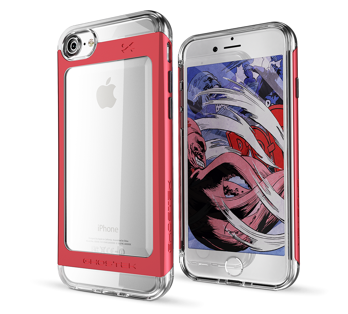 "Ghostek Cloak Protective Case With Aluminium Frame για Apple iPhone 7 & 8 (4.7"") Red + Δώρο Ghostek Tempered Glass"