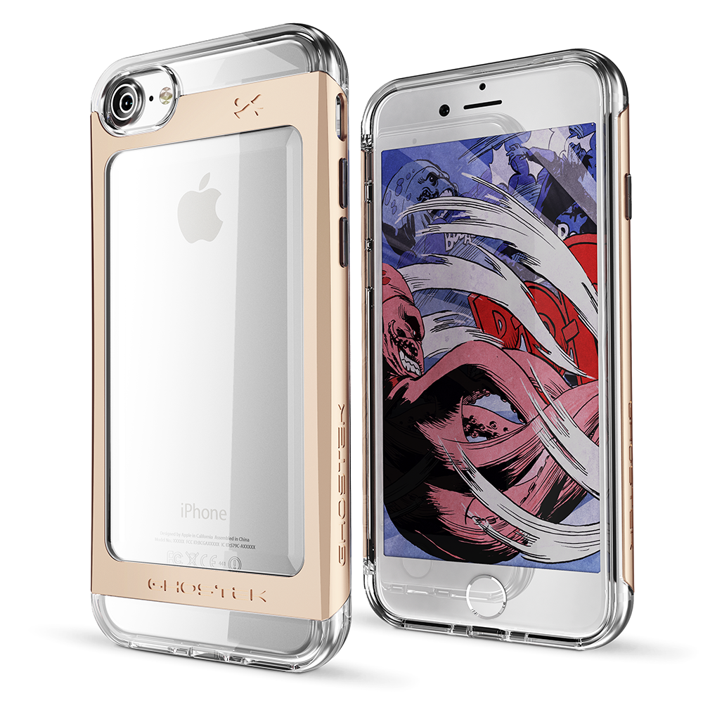 "Ghostek Cloak Protective Case With Aluminium Frame για Apple iPhone 7 & 8 (4.7"") Gold + Δώρο Ghostek Tempered Glass"