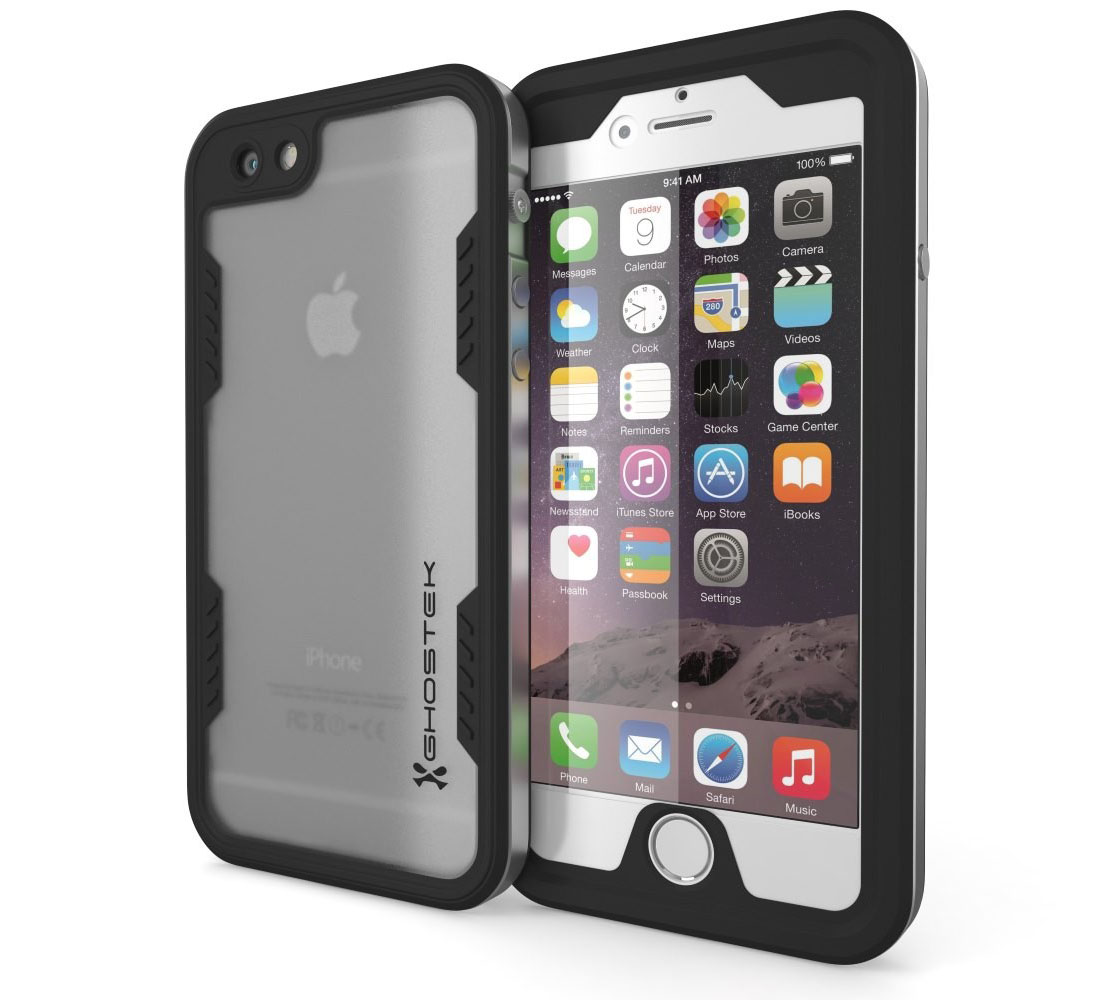 "Ghostek Atomic 2.0 WaterProof, DirtProof, SnowProof, ShockProof Case Silver για Apple iPhone 6 / 6S (4.7"") (Αδιάβροχη θήκη!)"