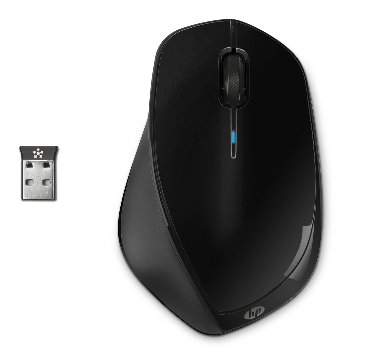 HP X4500 Wireless Mouse Black H2W26AA (Laser Sensor + Nano δέκτης + 30 μήνες αυτονομία!)