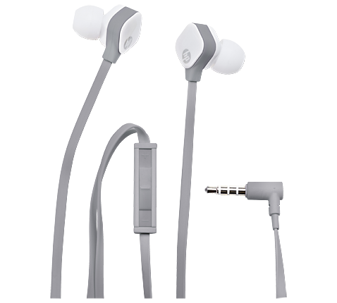 HP H2310 Pearl White In-Ear Stereo Headset & Handsfree J8H43AA (Flat Cable + High Performance Microphone + Clean Audio)