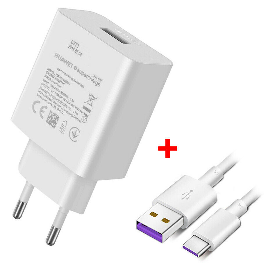 Huawei CP84 SuperCharge Adapter 40W + Type-C Data Cable: Φορτιστής ρεύματος + Type-C καλώδιο (HW-1004000E00)