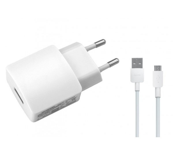 Huawei Switching Power Adapter (5V @ 2A) & Data Cable: Φορτιστής ρεύματος + microUSB καλώδιο (HW-050200E3W)