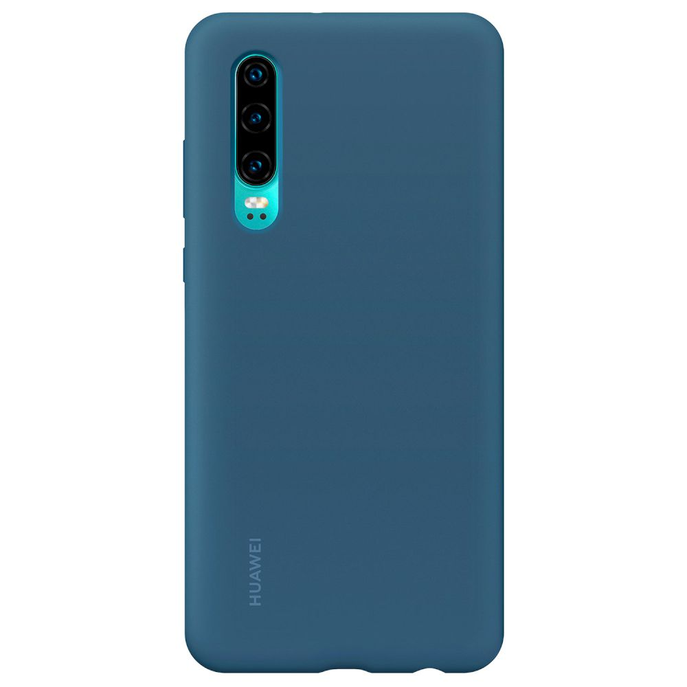 Huawei Original Silicone Car Case για Huawei P30 Blue